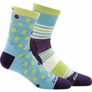Darn Tough Dot and Stripe Crew Light Socks Kids'