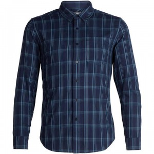 Icebreaker Cool-Lite™ Compass Flannel Long Sleeve Shirt Men's