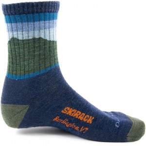 Skirack Green Mountain Hiker Micro Crew Cushion Sock Unisex