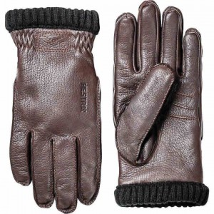 Hestra Deerskin Primaloft Ribbed Gloves Men's