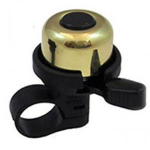 Mirrycle Incredibell Duet Brass Bike Bell Gold