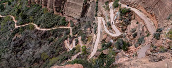 The top of Walter's Wiggle at Zion National Park.