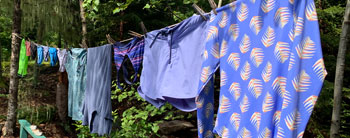 Hanging clothes in the sun after a day of swimming. Photo Credit: Sierra Martin.