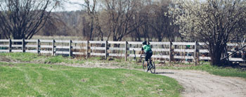 Gravel biking is a great way to still ride while the trails are closed. Photo Credit: Zach Walbridge.
