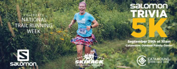 Skirack to Host Salomon Trivia 5K at Catamount Outdoor Family Center on September 29