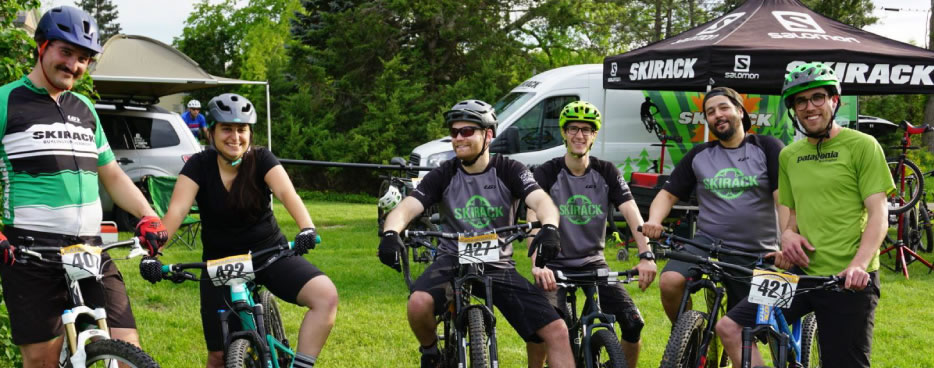 Skirack attends Wednesday night's mountain bike training race at Catamount Family Outdoor Family Center