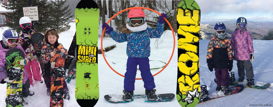 Junior Snowboard Leasing at Skirack of Burlington Vermont