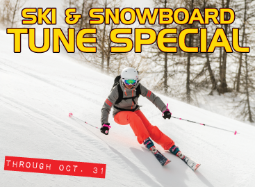 Downhill ski and snowboard tune special through October 31